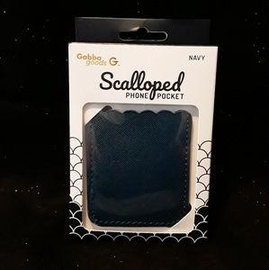 NWT Navy slim self adhesive card pocket wallet